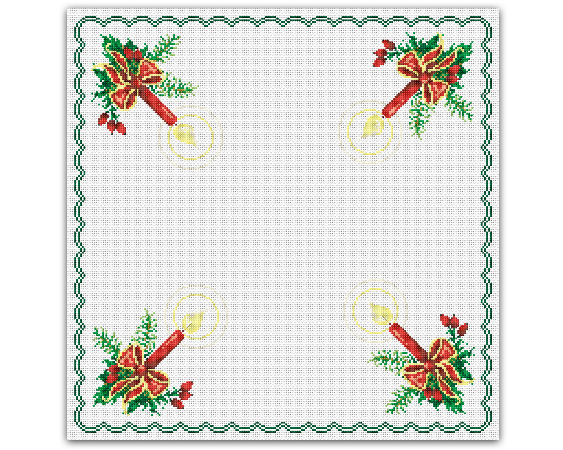 Velas De Natal Grafico Ponto Cruz No Elo7 Thimage Graficos