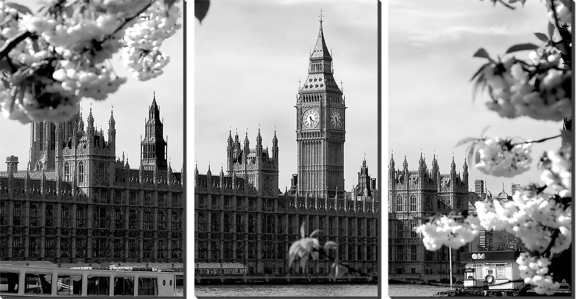 de62f31ad95 Kit Quadro Decorativo Big Ben Relogio Londres Preto e Branco