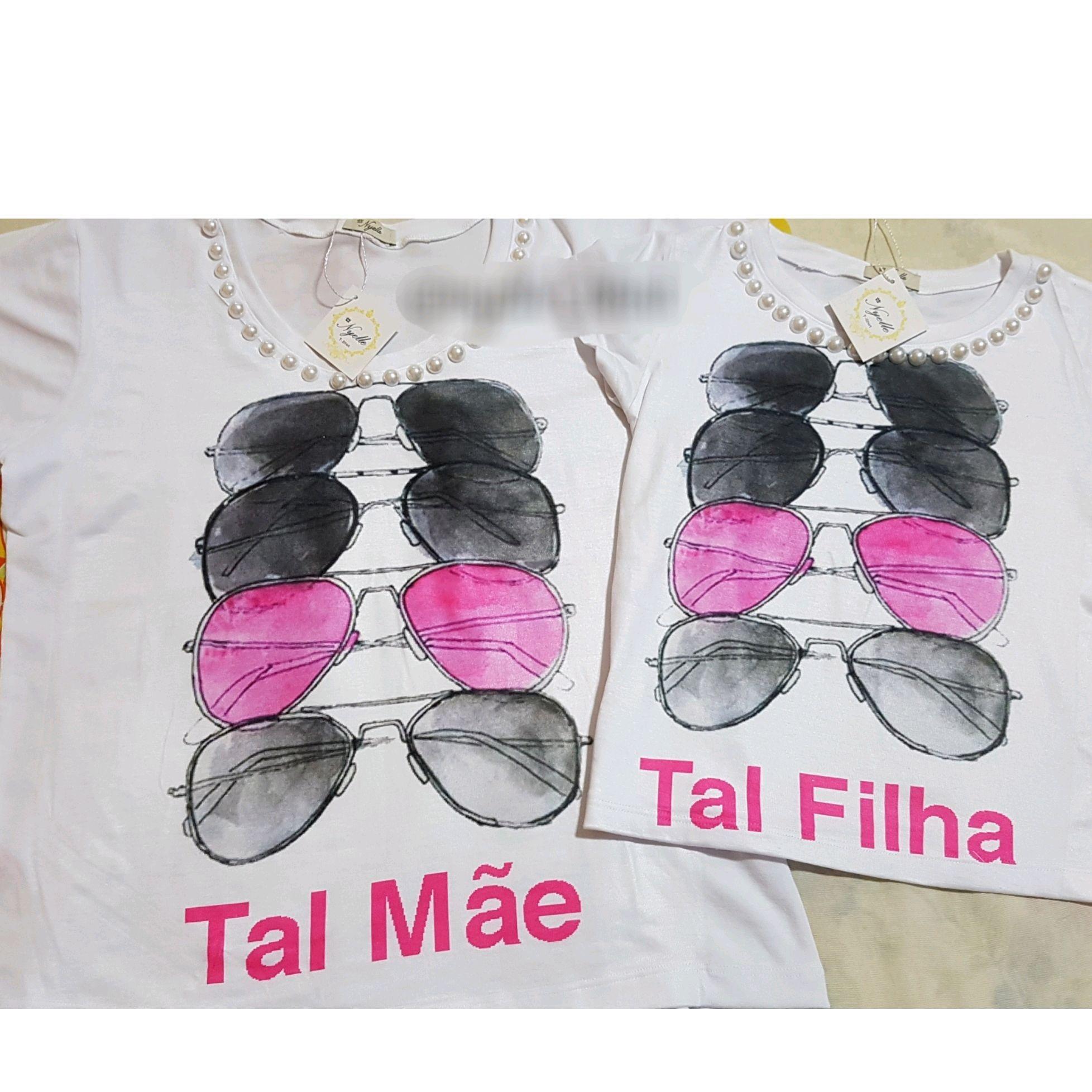 9fe023182 Camiseta Feminina - Tal Mãe, Tal Filha - Óculos Ray Ban no Elo7   Nyelle  T-Shirt (B09002)