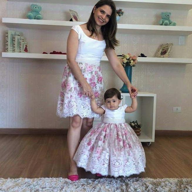 Vestido Tal Mãe Tal Filha Floral Luxo