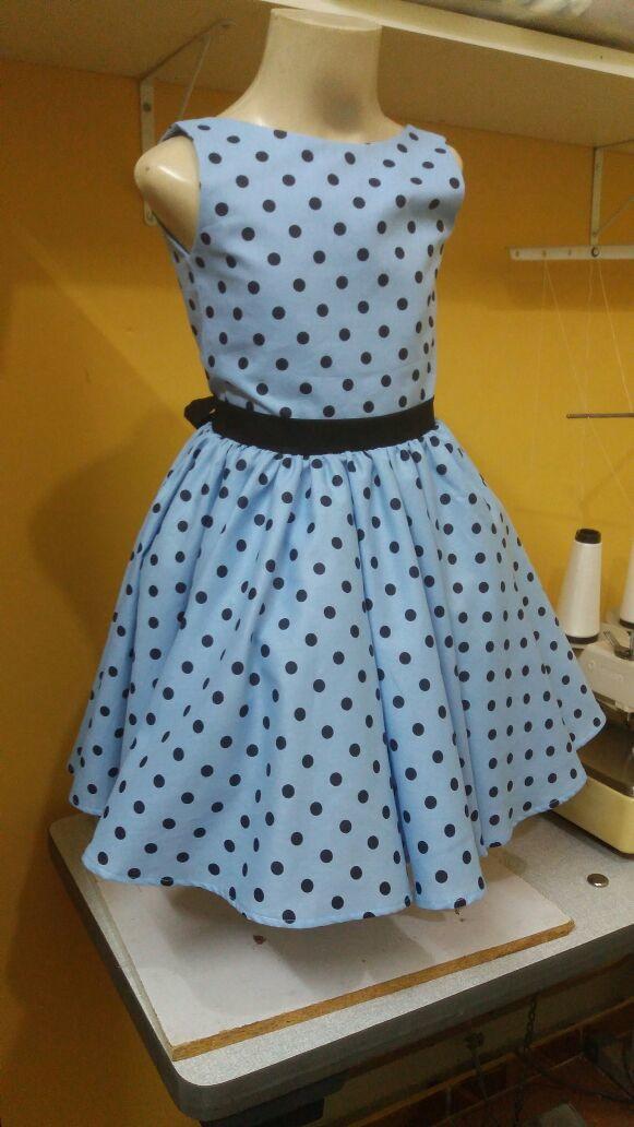 21f724c43c Vestido Anos 60 Festa Infantil Menina Saia Gode By Tia Gina. no Elo7 ...