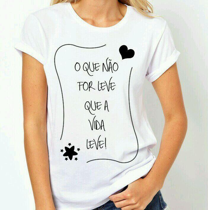 437c32ad17842 Camiseta com frase no Elo7