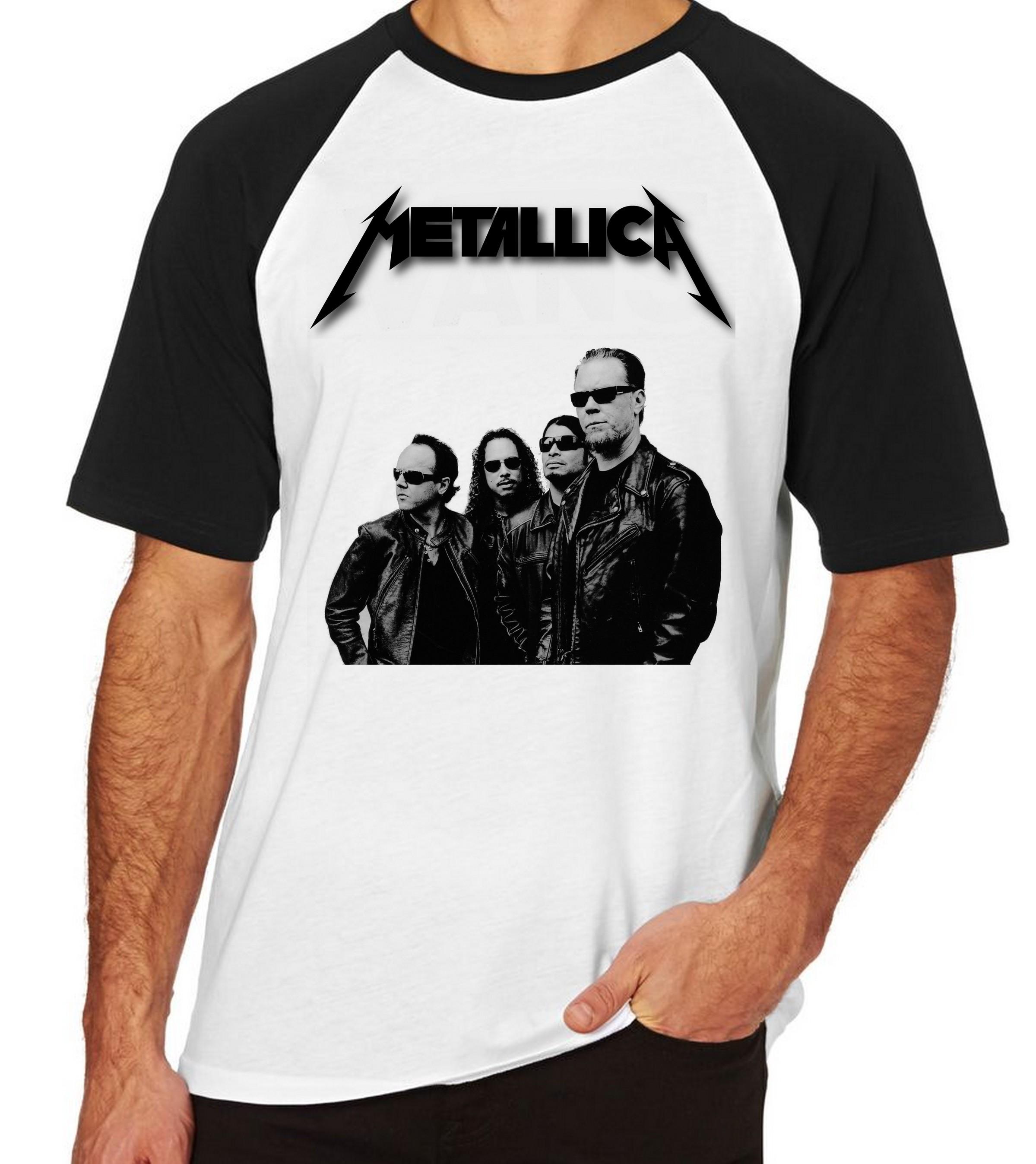 4a440f14d1c Camiseta Camisa Banda Rock Metallica Branca Super Promocao