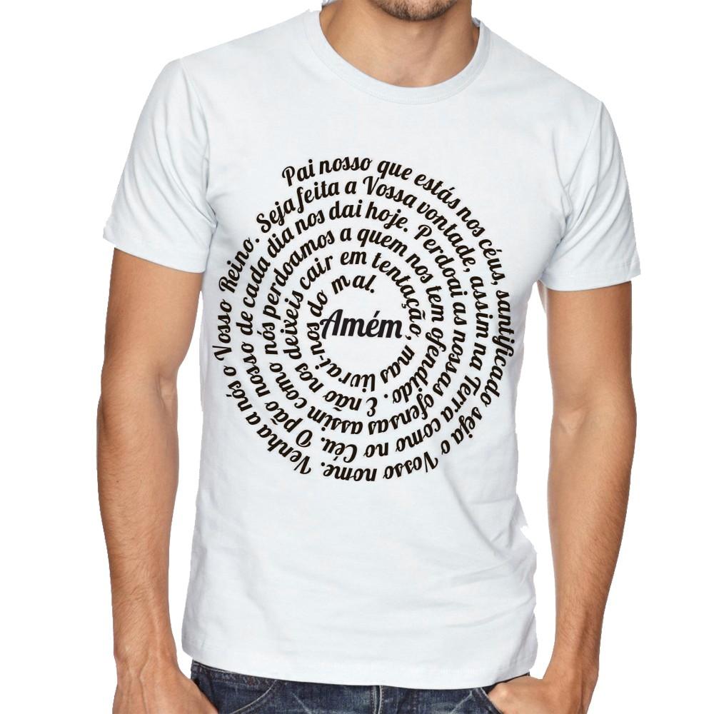 aa9f210791 Camiseta Raglan Camisa Blusa Pai Nosso Oração DEUS jESUS no Elo7
