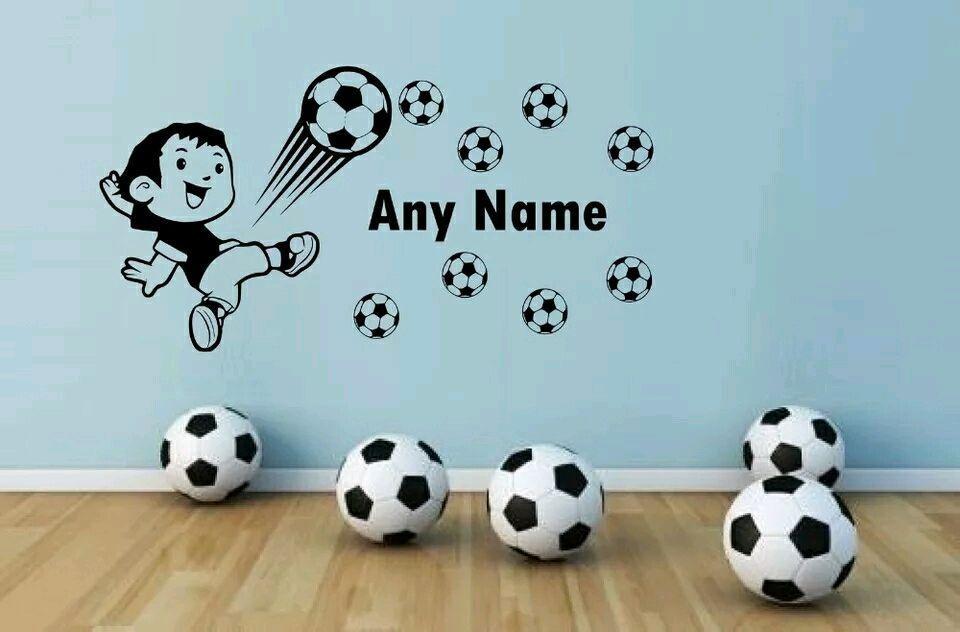Adesivo Decorativo Cartela Futebol Nome Personalizado  02be4115eeb15