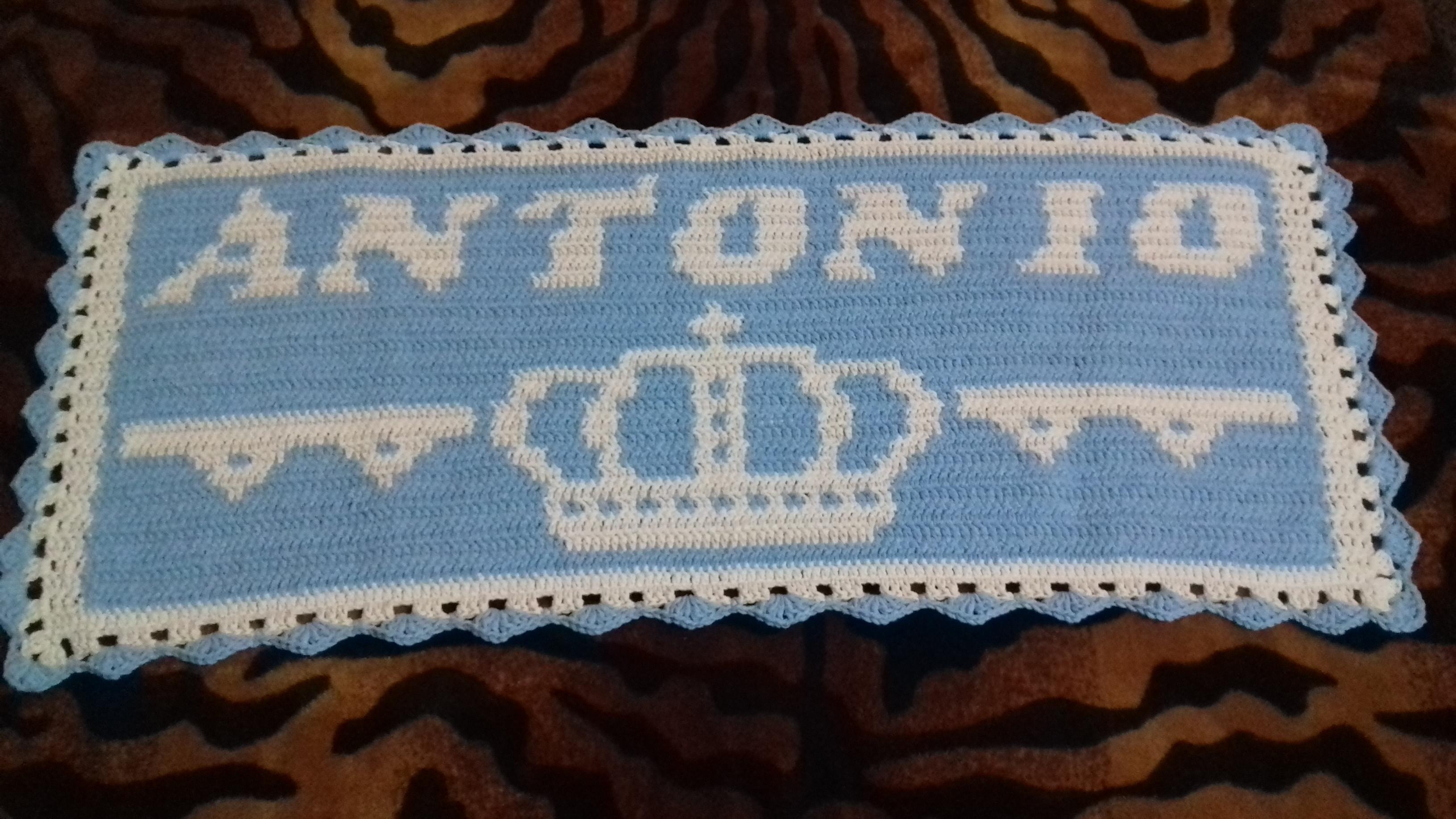 Nome Crochê Personalizado Jarbas  9e9e714234d