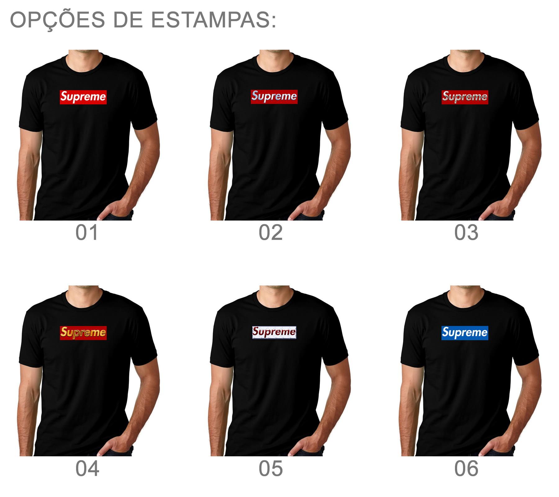 ab97ee9a6a9 Camiseta Camisa Preta Supreme Estampa Anti-trincagem 04 no Elo7 ...