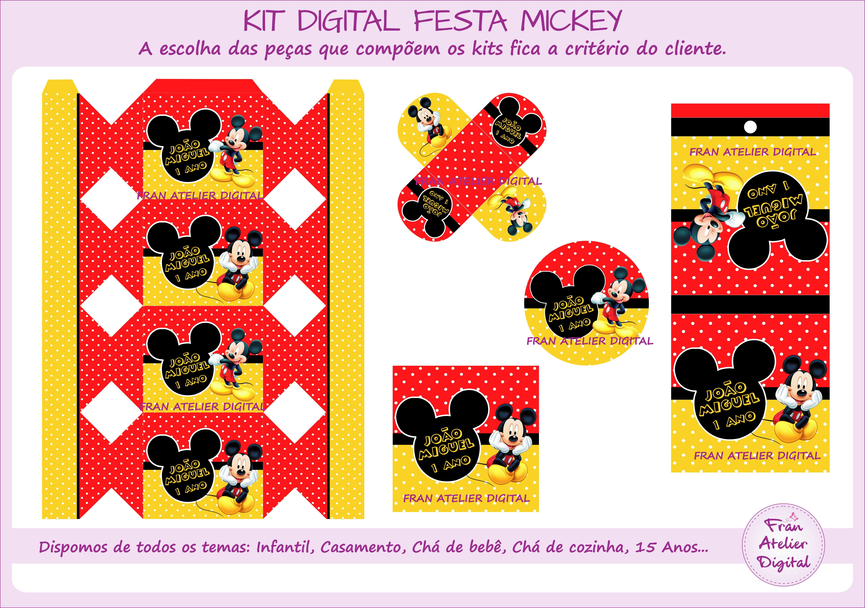 Kit Digital Festa Mickey No Elo7 Fran Atelier Digital Ce8628