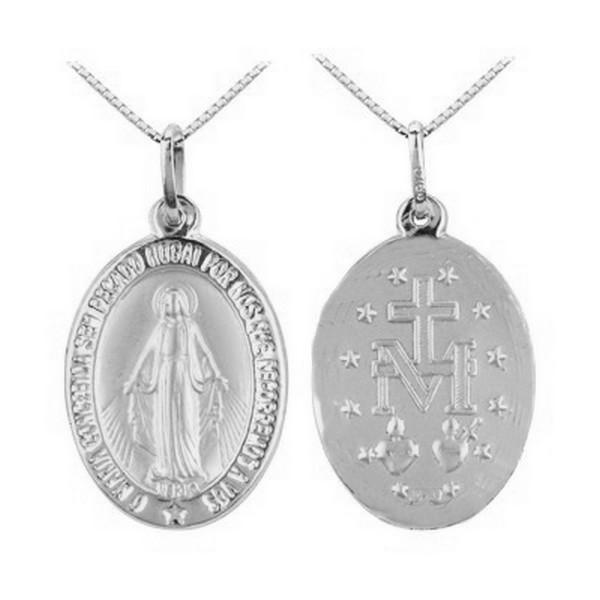 Medalha de Nossa Senhora das Graças Folheada a Ouro   Elo7 2fa4c3946f