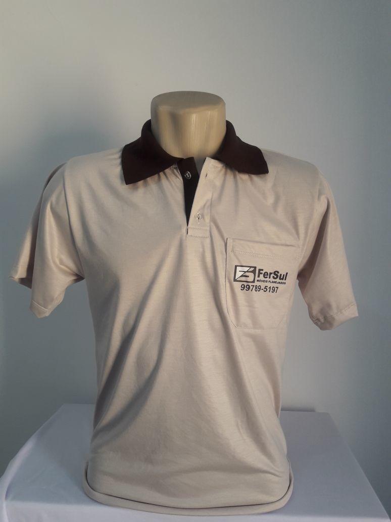 56d81f269f Camiseta gola Polo Uniforme no Elo7