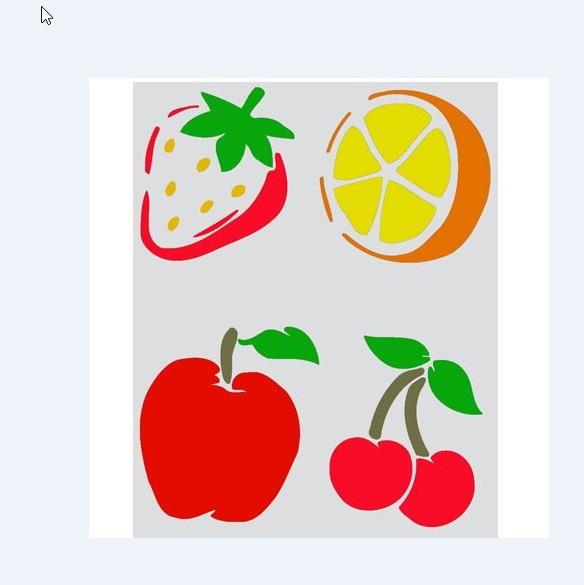2 Stencil Molde Vazado Frutas Frete Gratis No Elo7 Submoda