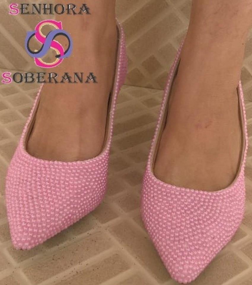 03c126f23f Sapato Scarpin Rosa