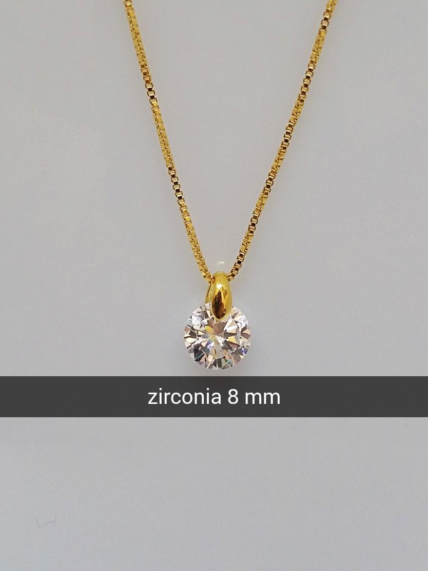 Corrente com pingente ponto de luz zircônia folheado a ouro no Elo7    Cirillo Splendore Express semi joias (CF0E06) ae9333f91f