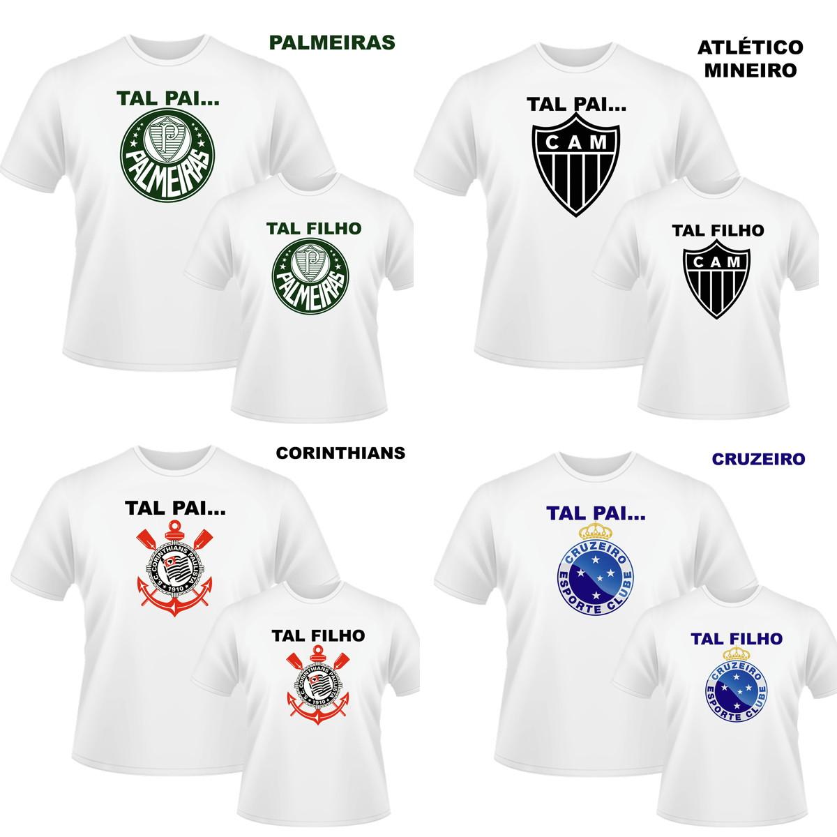 Camisetas Tal Adulto Tal Crianca  8dee6cb4e56db