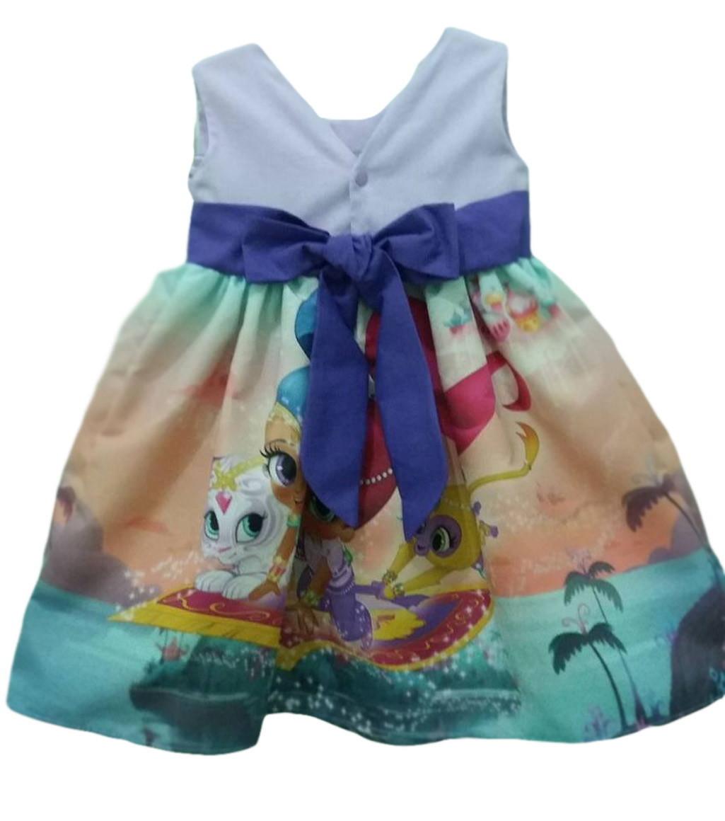 f61905284 Vestido Shimmer And Shine Roupa Infantil Tam. 08 Ao 14. no Elo7 ...