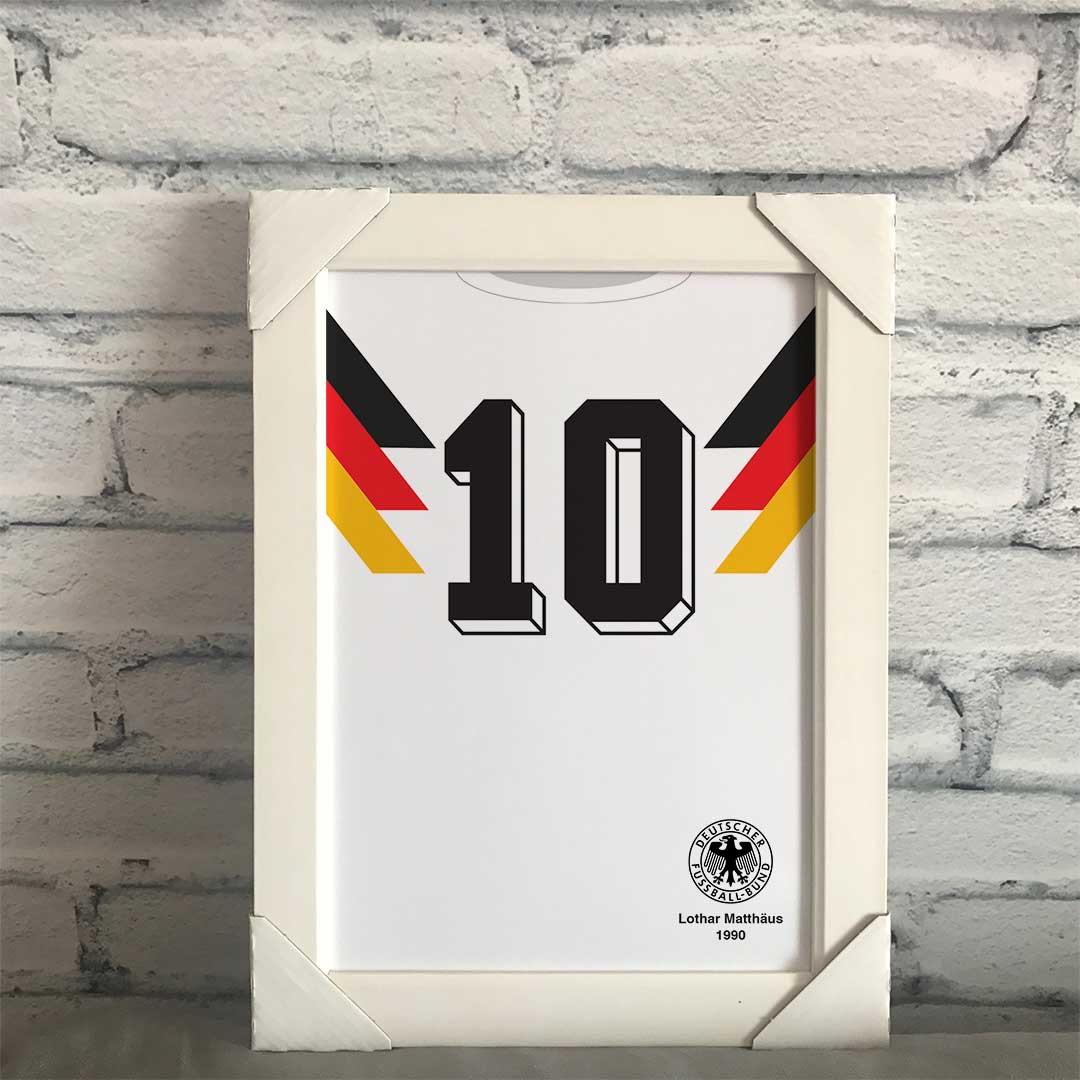 5d52f813e0 Quadro Camisa da Alemanha 1990