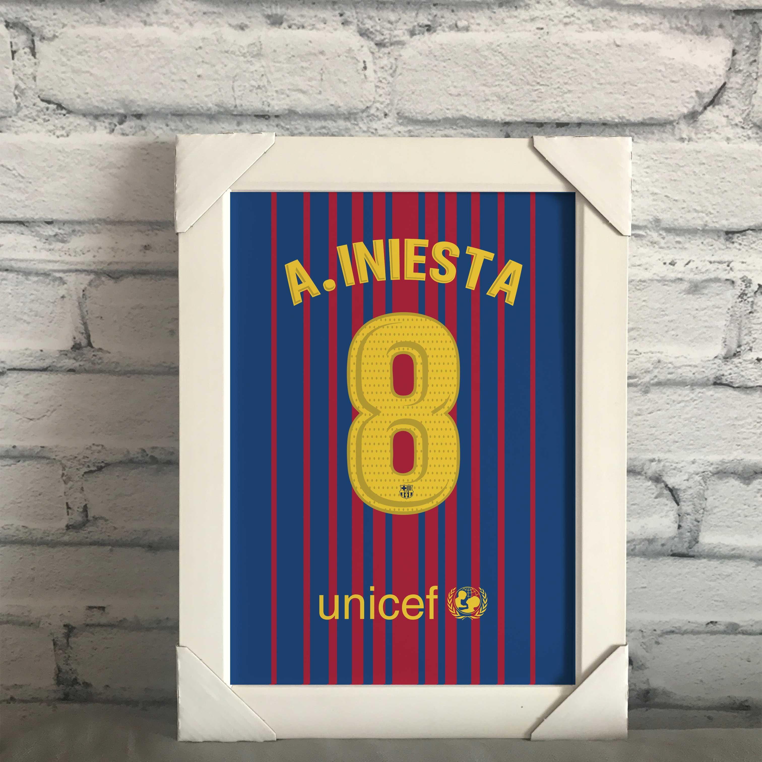 c3c1c4d046 Quadro Camisa Barcelona Paulinho
