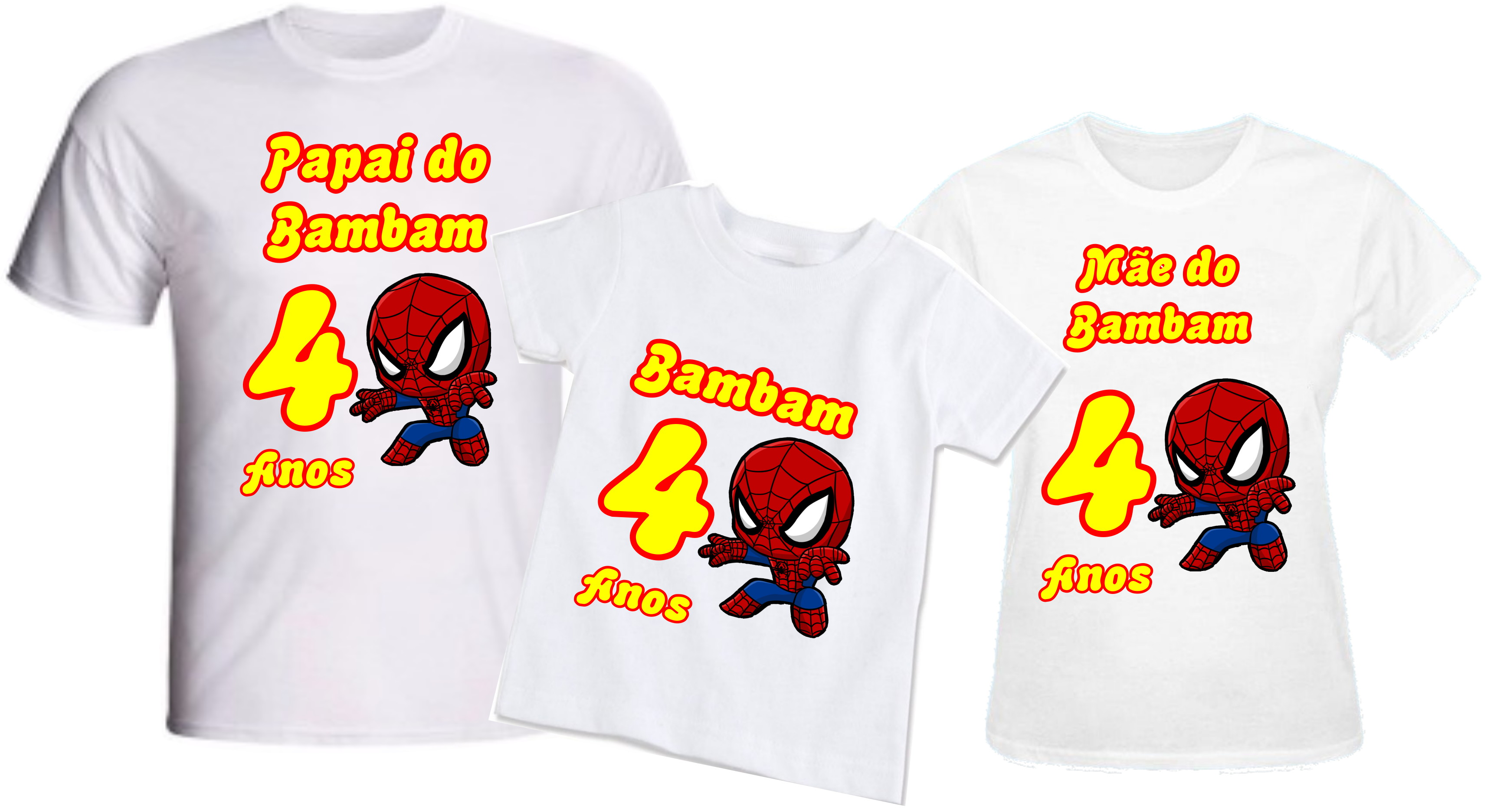 329ccf6139 Camiseta Personalizada Aniversario Pai Mae Filho Irmao