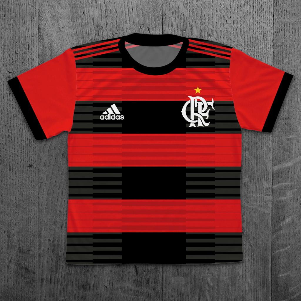 b0d114c1c2 Camiseta Flamengo Infantil Personalizada Tamanho 01 Ao 12