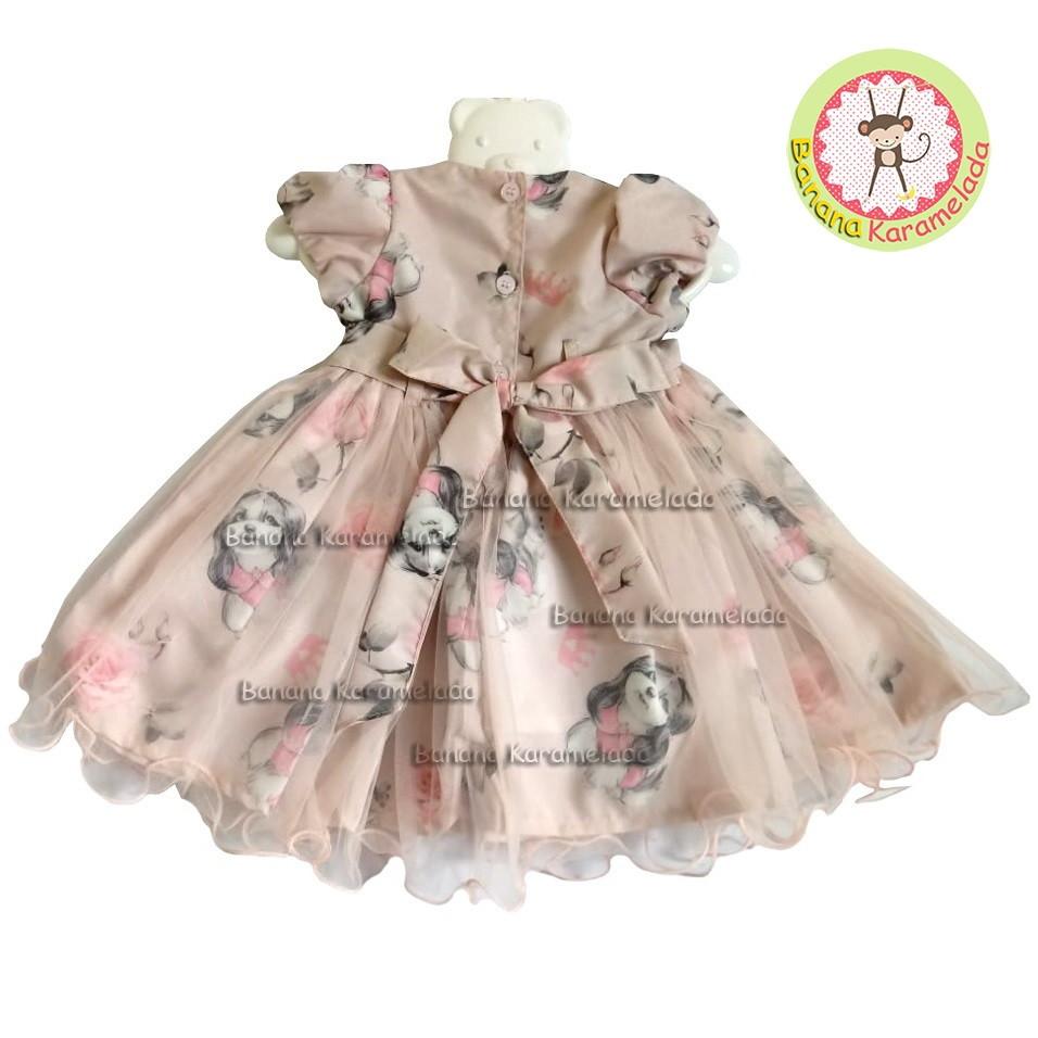 Vestido Festa Estampado Bebê Bolero T G Pronta Entrega