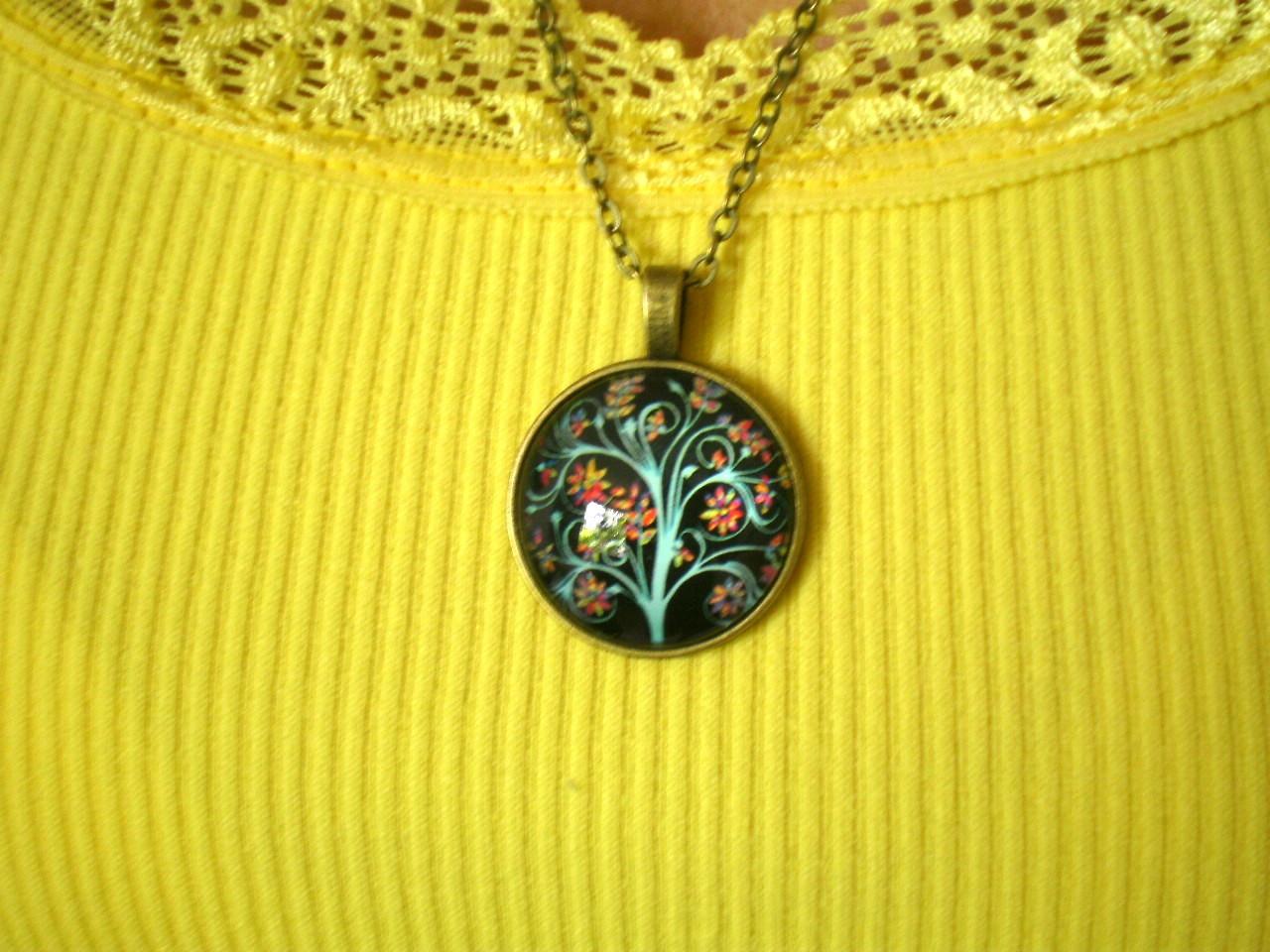 fad6d127a73 Colar Mandala Roda da Vida Infinita Rosa e Azul