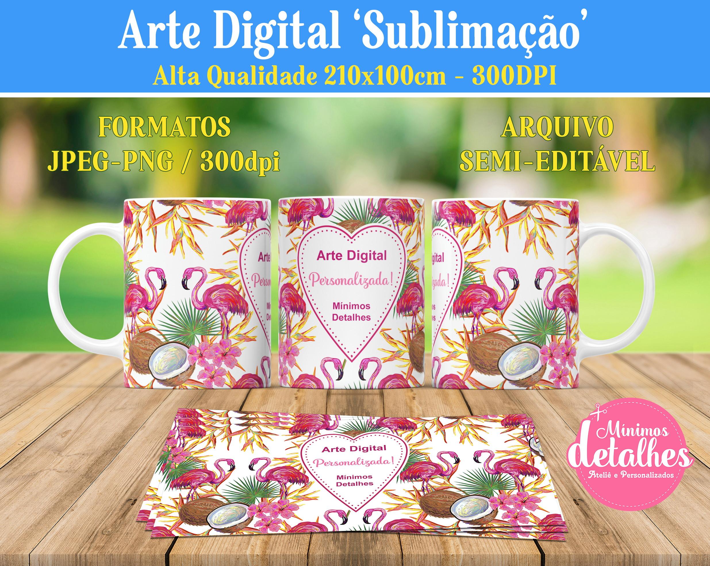 Arte Digital Estampa Caneca Flores E Rosas Dm09
