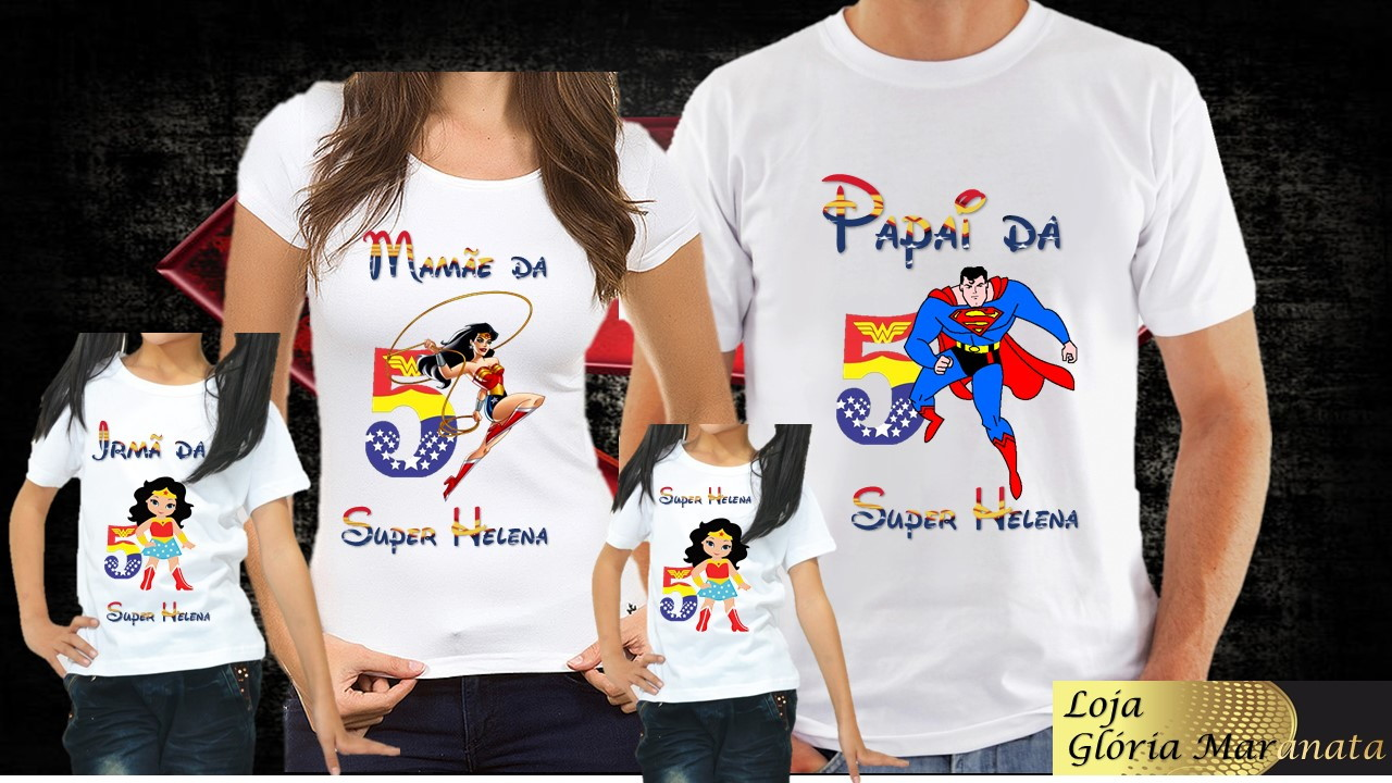 7d7cd25fb Camiseta Super Herois Kids