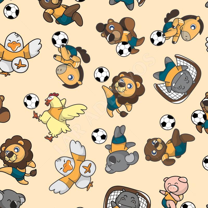 b8c71d82d2 Papel de Parede Infantil Futebol Menino Bolas Ref 4207