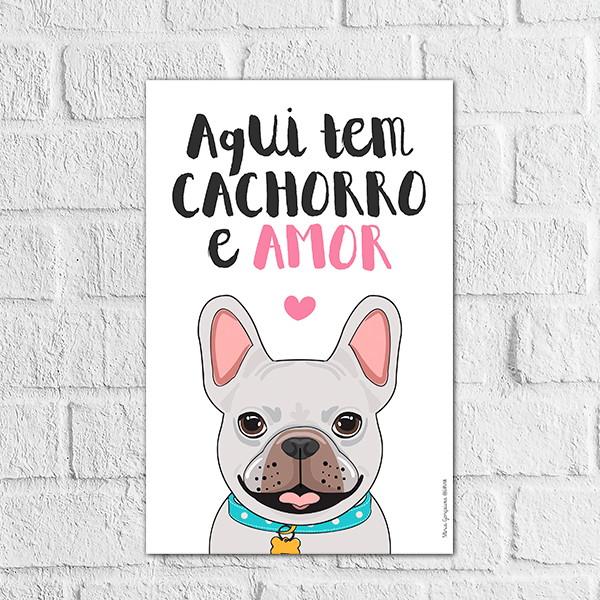 Placa Decorativa Animal De Estimação Gato Cachorro Frases No Elo7