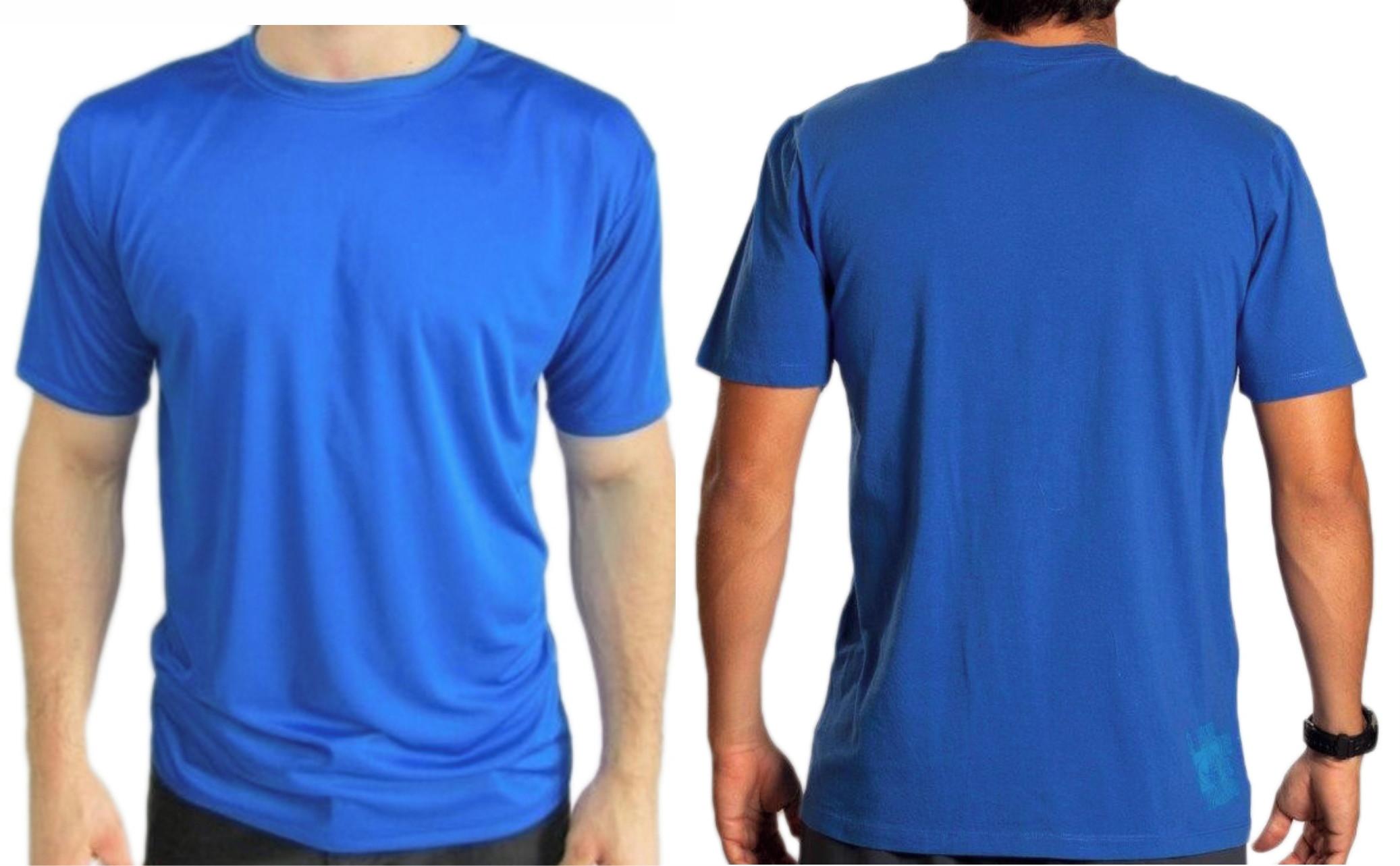 Camisetas 10 Unidades Atacado Lisa 100 Algodão Azul Royal
