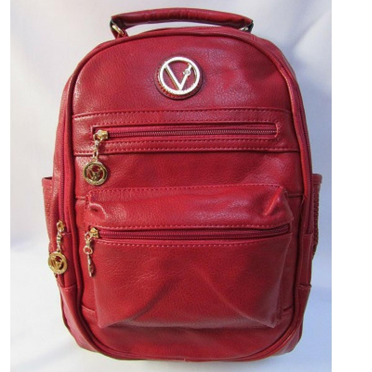 47d212f8e52 Bolsa Mochila Couro Ecológico cor vermelho super linda no Elo7 ...