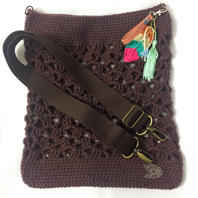 Bolsa de Croche com Alca de Metal  122d42a53b6