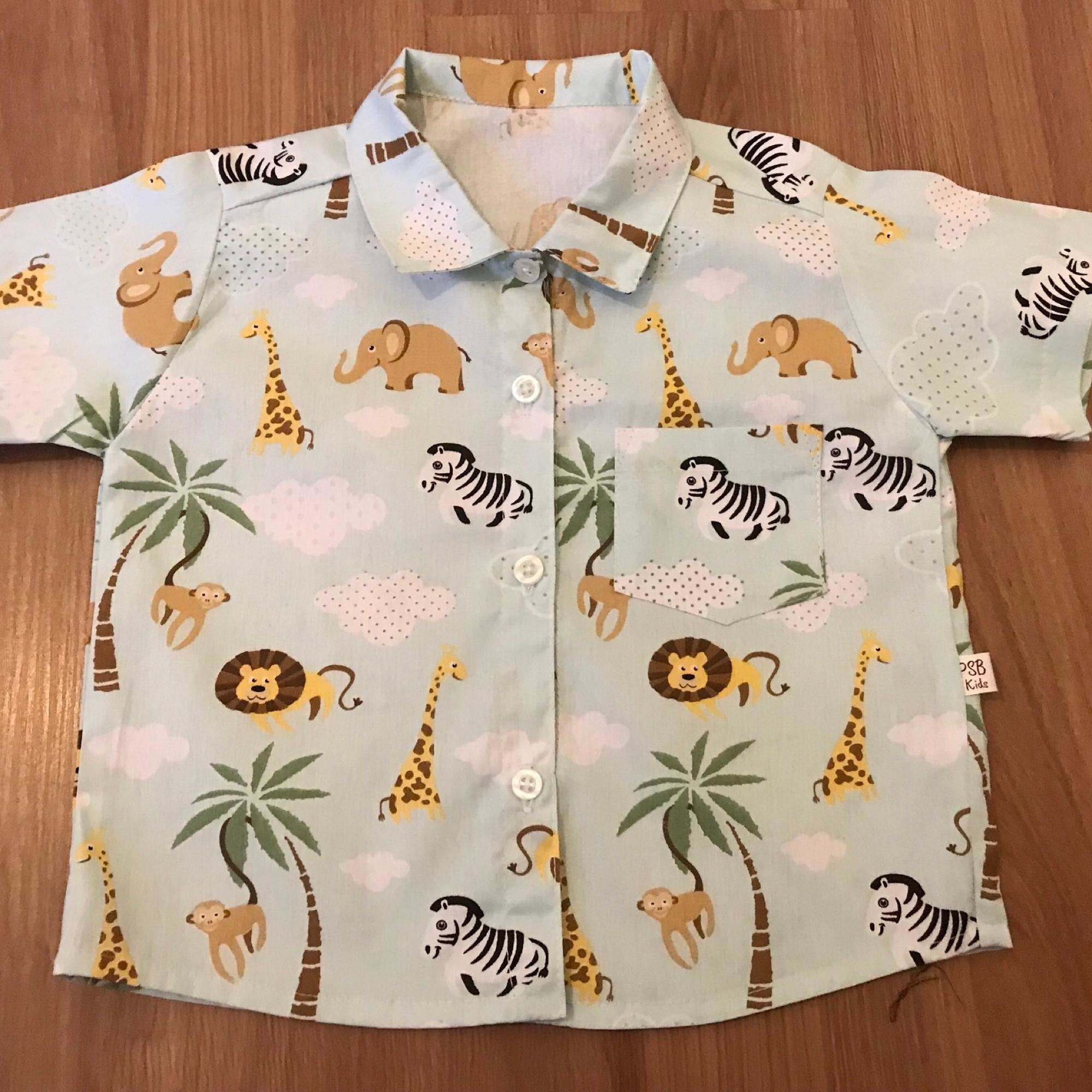 351b3592eb Camisa Infantil Safari Azul