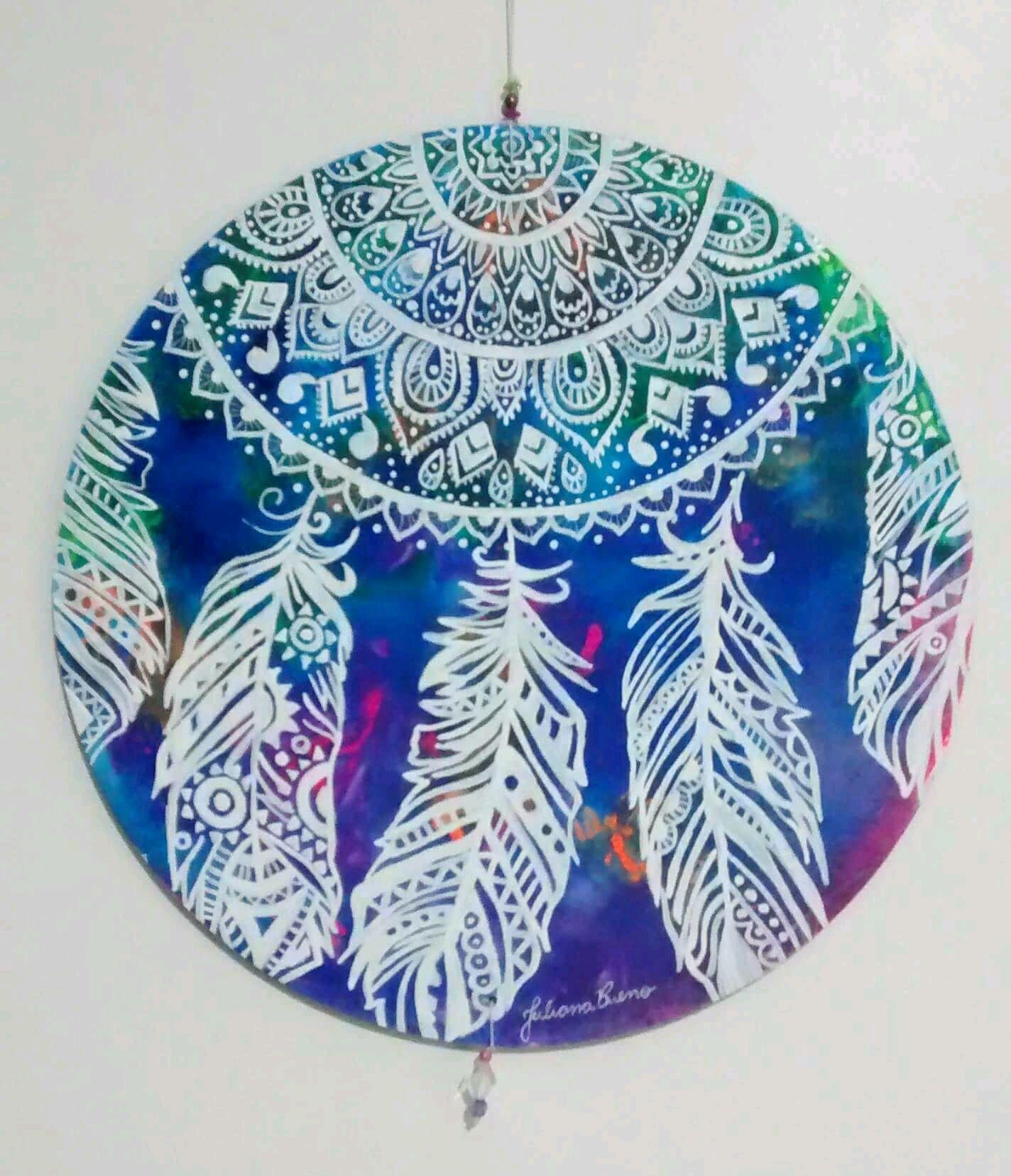 Pintura Em Vinil Mandala Filtro Dos Sonhos No Elo7 Juliana