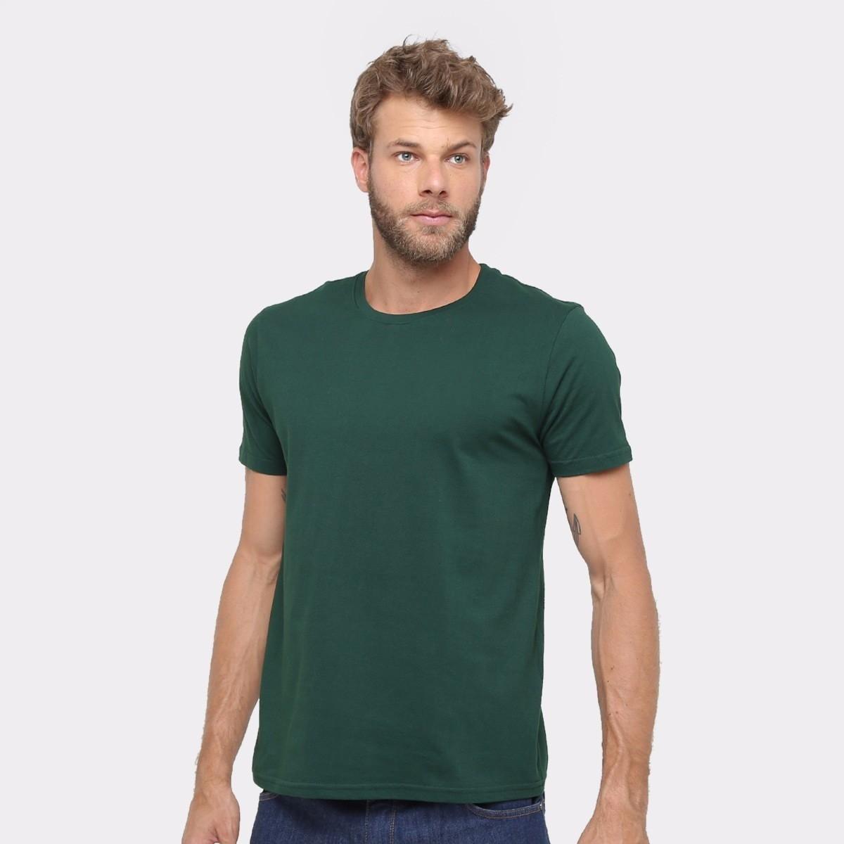 1e7aafcfe8 Camiseta 100% Algodão Sem Estampa Fio 30.1 Lisa Verde no Elo7
