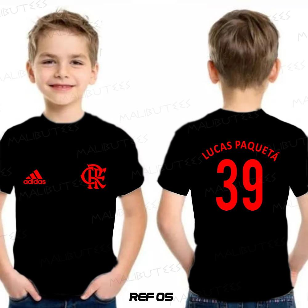 Camiseta Infantil Personalizada Time Flamengo  c8c568fedb2db