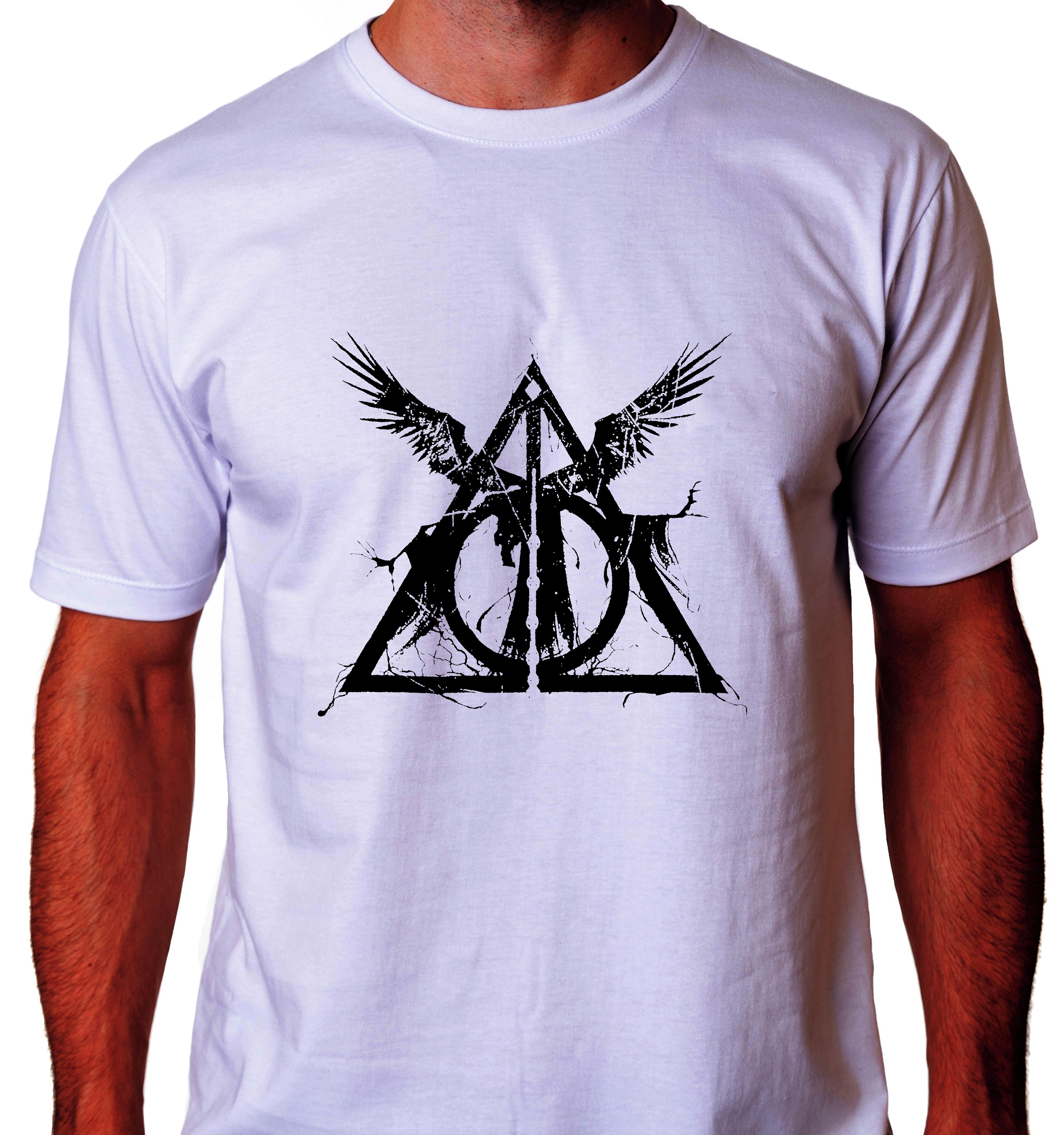 Camiseta Reliquias da Morte  38eb92bdaa8