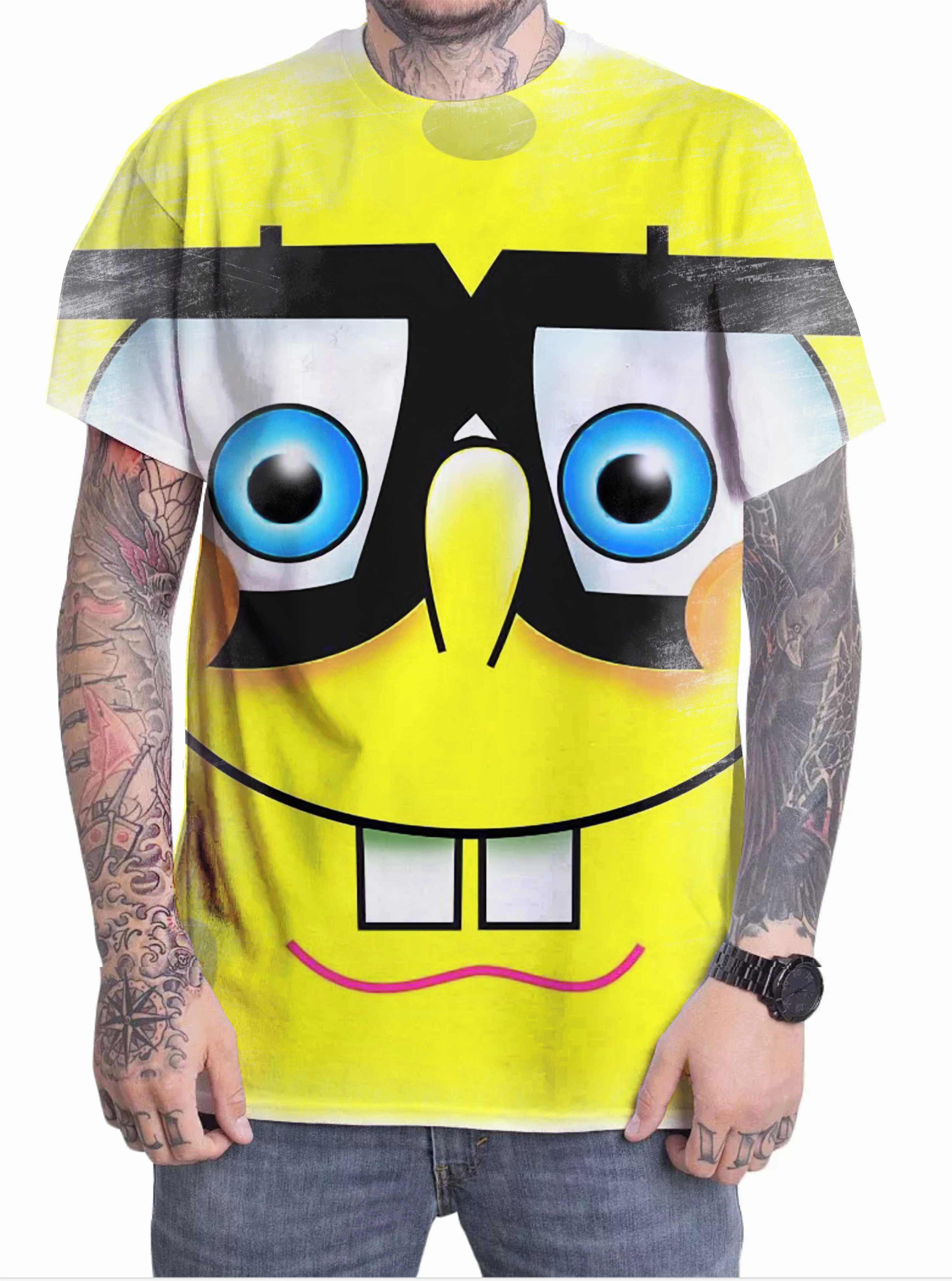 Camiseta Camisa Personalizada Desenho Bob Esponja 16 No Elo7