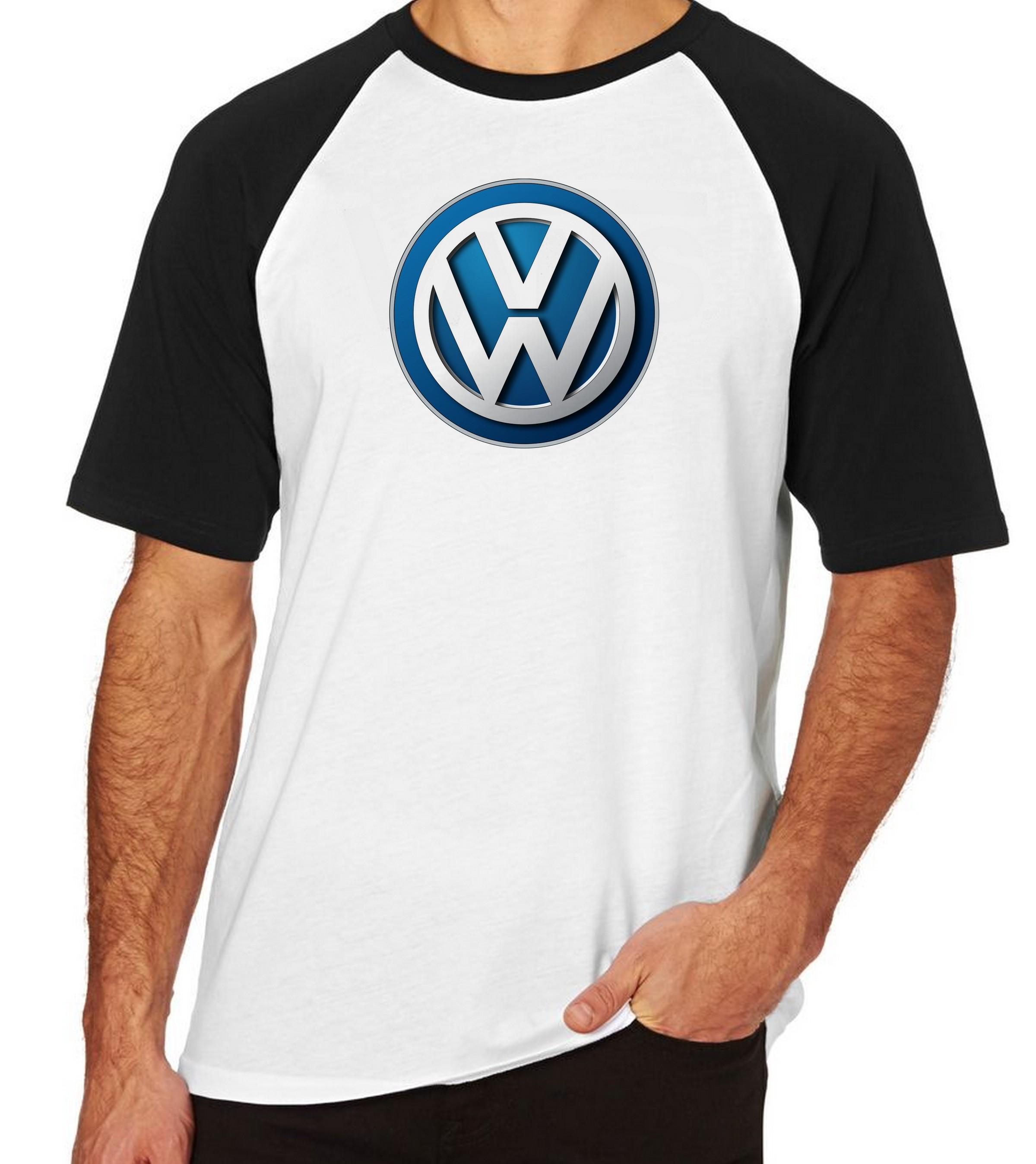 3b681051dc Camiseta Raglan Camisa Blusa VOLKSWAGEN Carro Golf Jetta no Elo7 ...