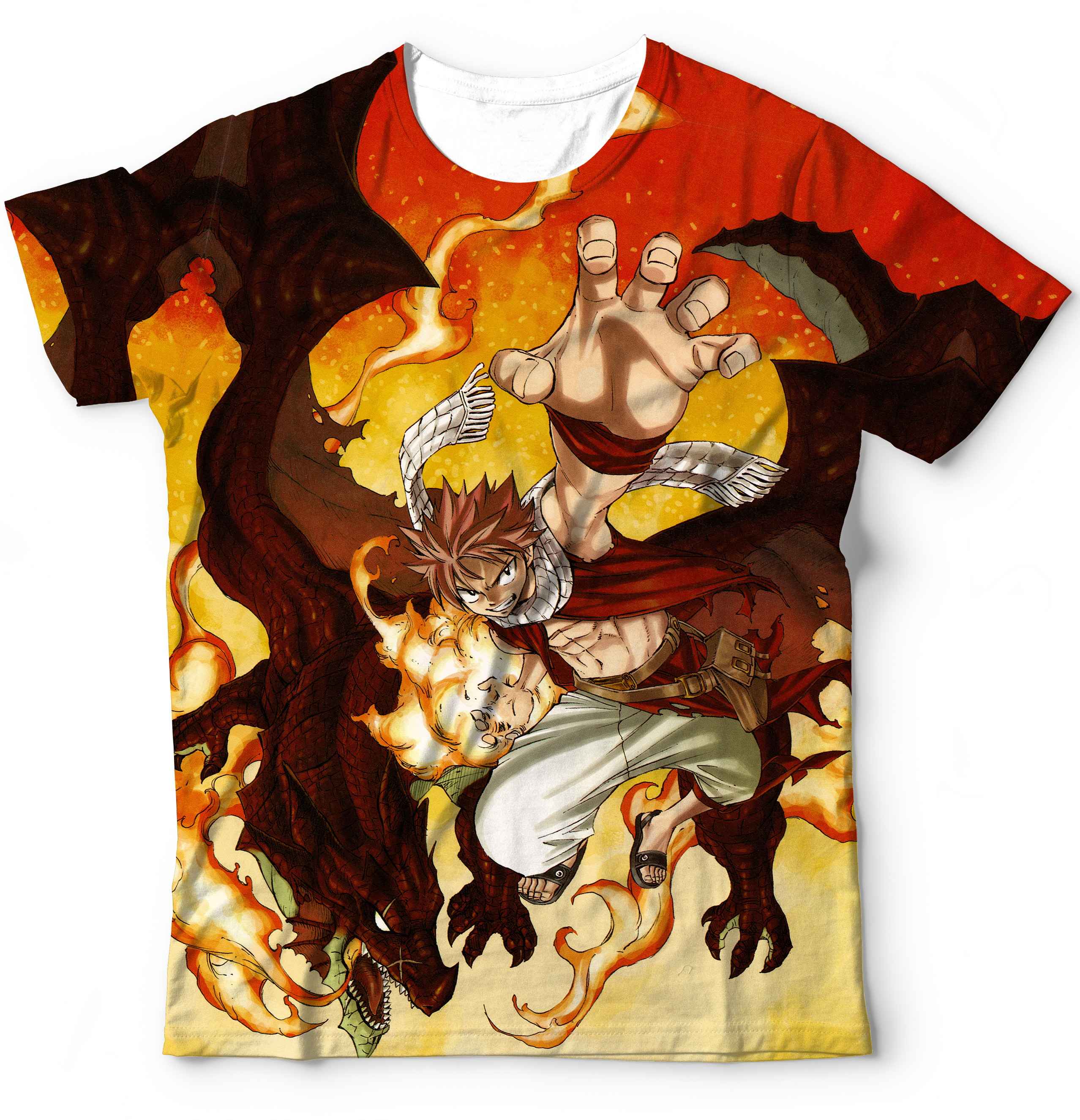 56ec28b1ed3c3 Blusa Camiseta Camisa Fairy Tail Natsu - Estampada no Elo7 ...