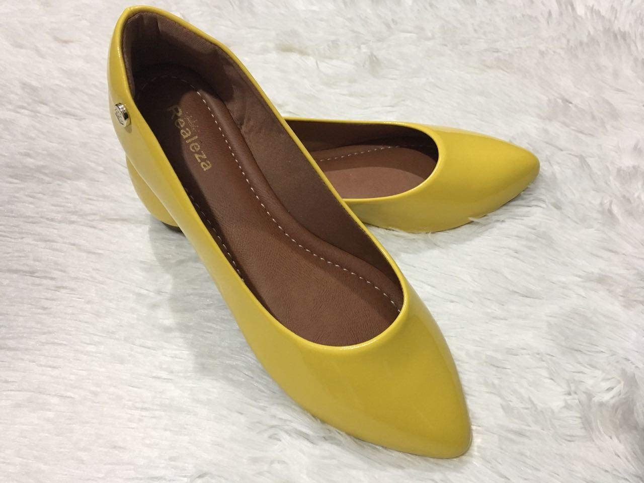3071208eb0d Sapatilha Feminina Verniz Amarelo Calçados Femininos no Elo7 ...