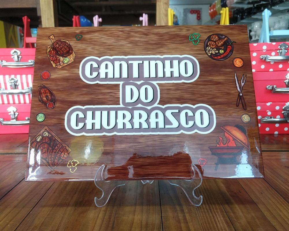 Azulejo Cantinho Do Churrasco moldura decorativa festa no Elo7 ... 7cf5d4c64136e