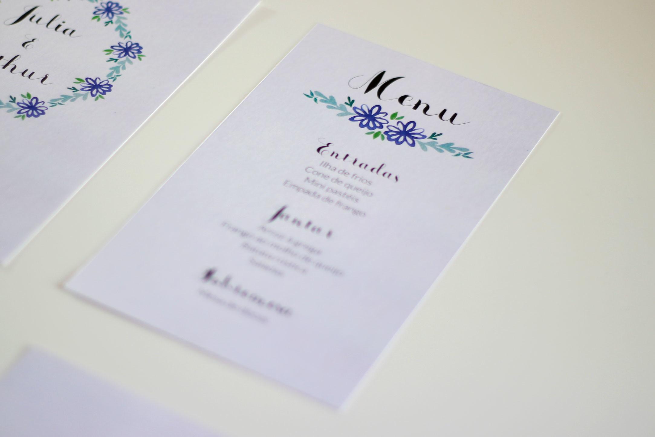 Menu De Casamento Para Imprimir Margarida Roxa No Elo7 De