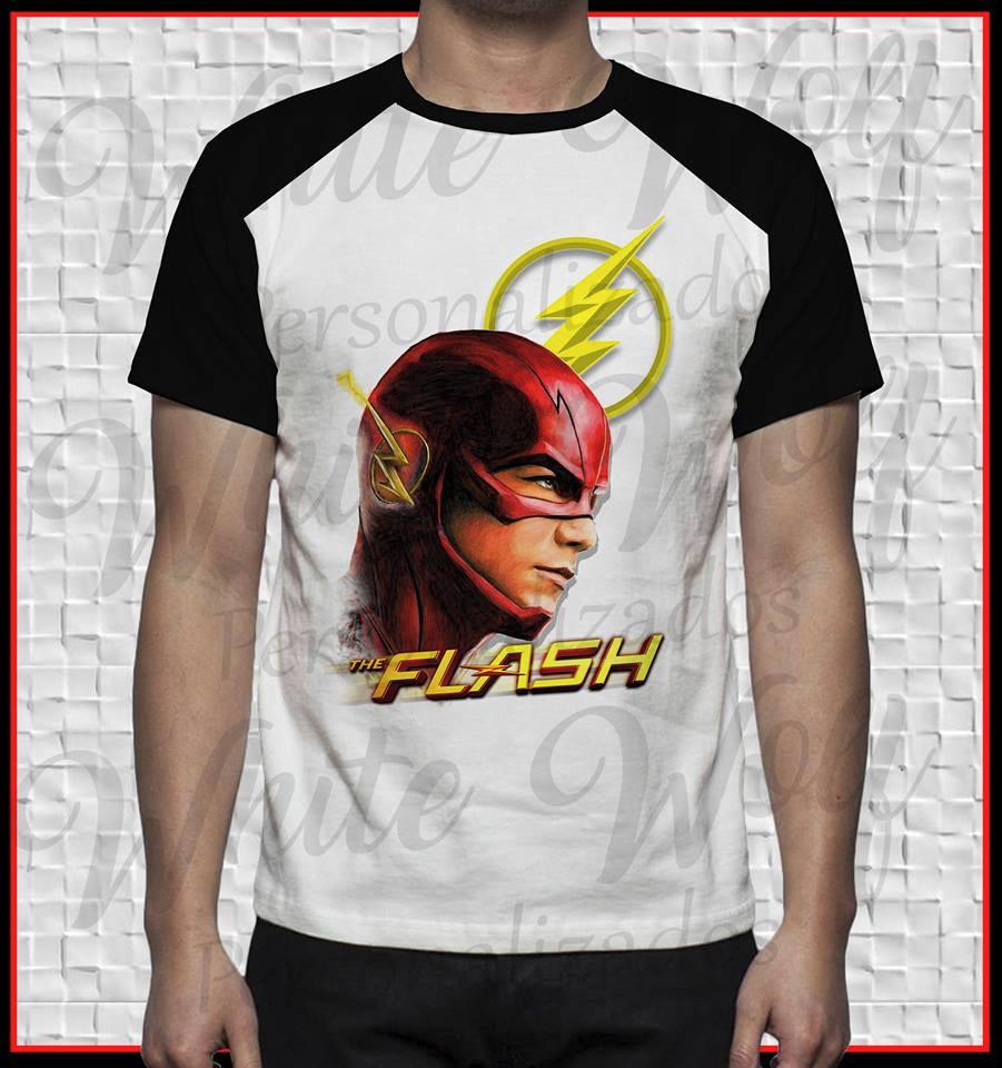 5bffc2f53b Regata Masculina Personalizada Geek Serie The Flash