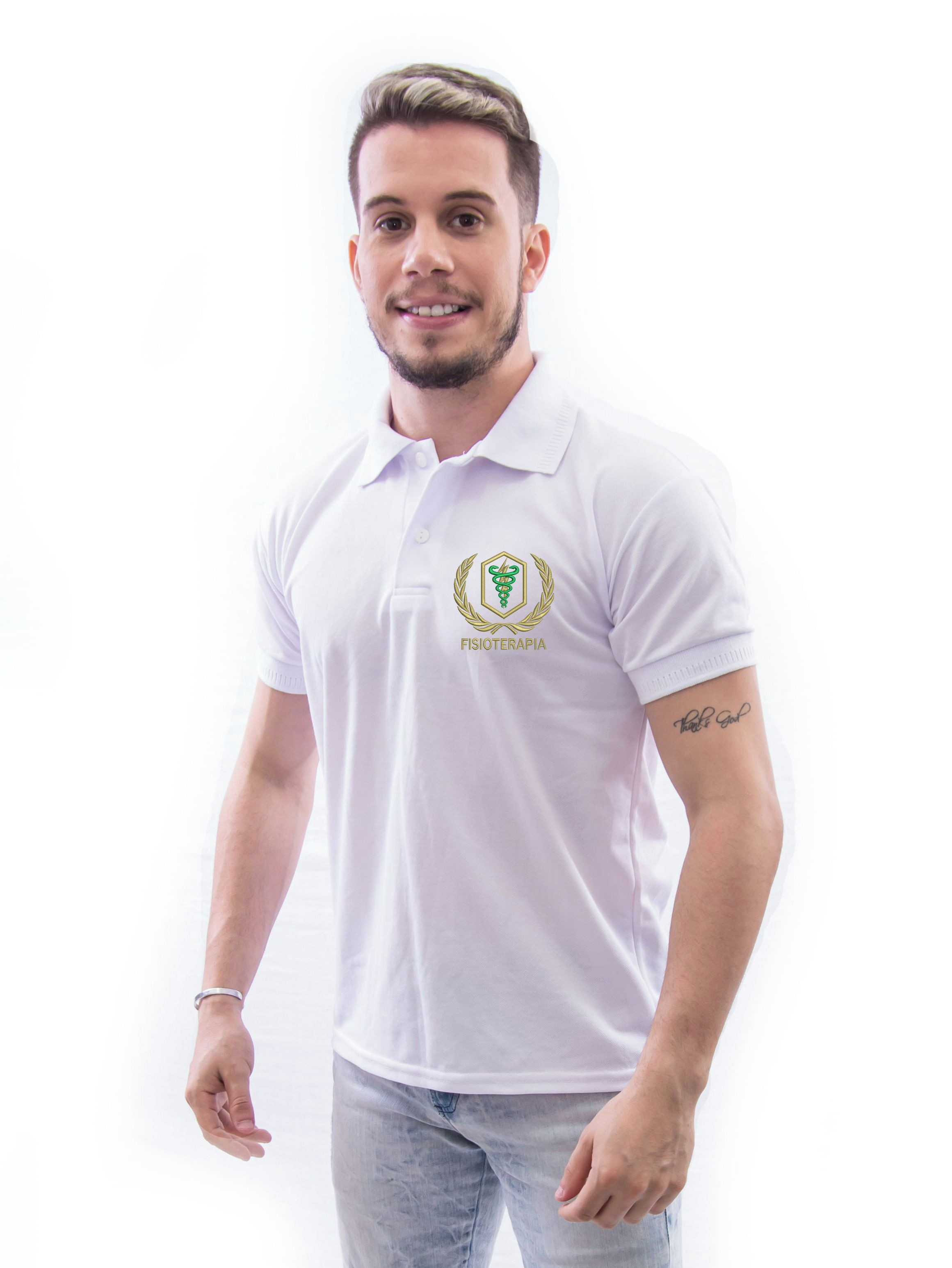 6b24422ee3 CAMISA POLO UNIVERSITÁRIA BORDADA FISIOTERAPIA no Elo7