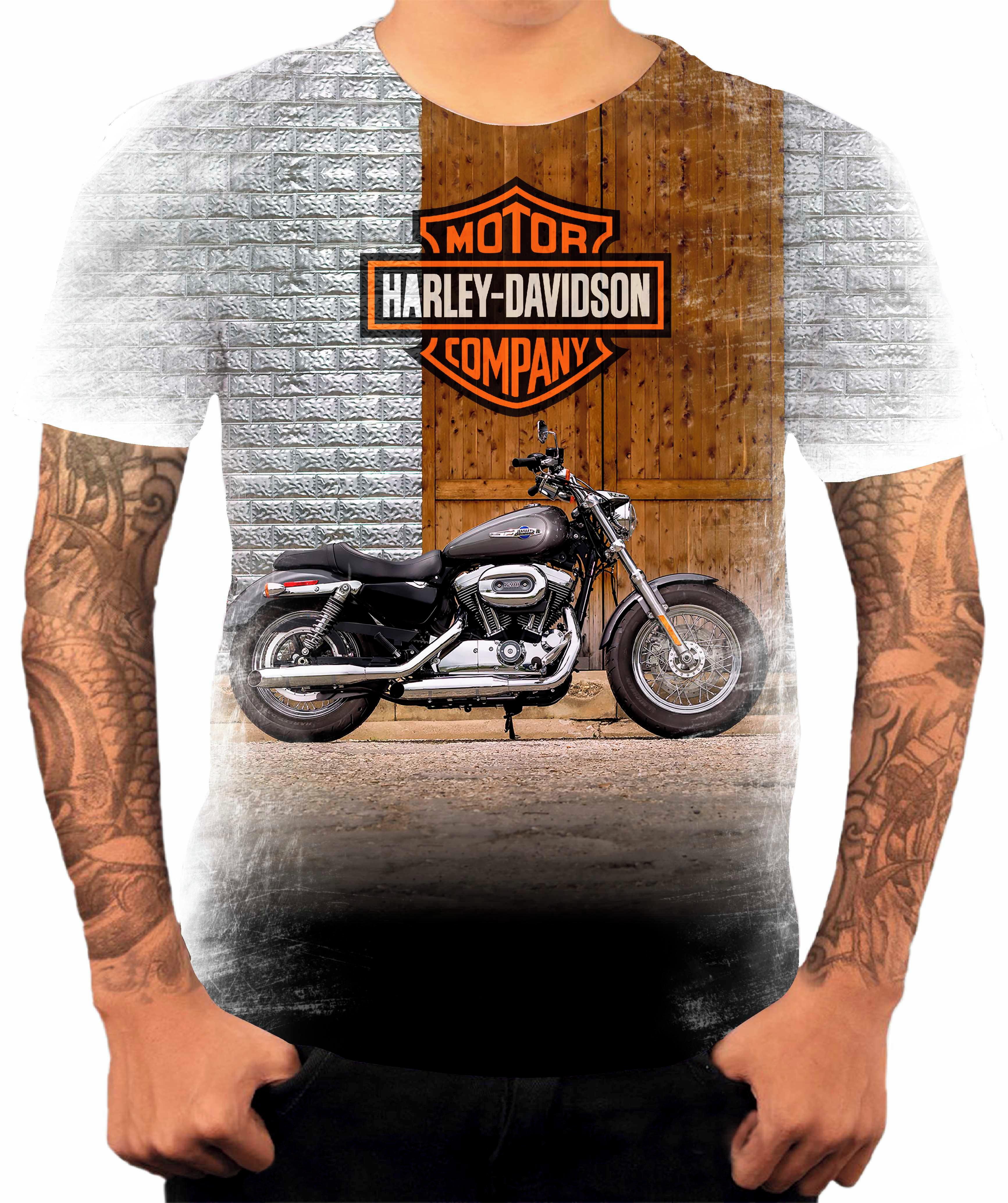 6262edb3ddb00 Camisa Camiseta Personalizada Moto Harley 10 | Elo7