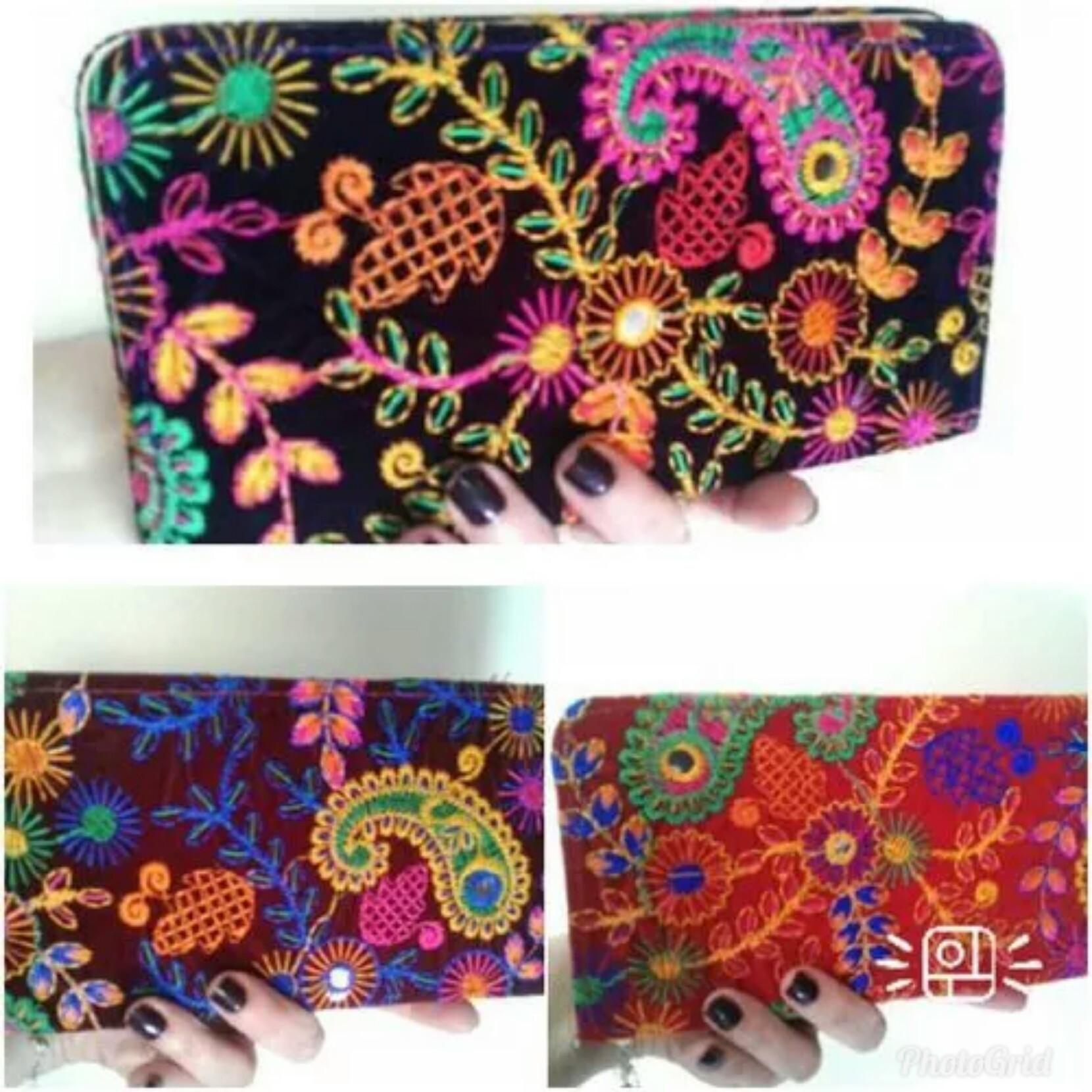 e4f5dfac5 carteira clutch Estilo Indiano bordadas a mão no Elo7 | Lakshimi moda  indiana (D258BA)
