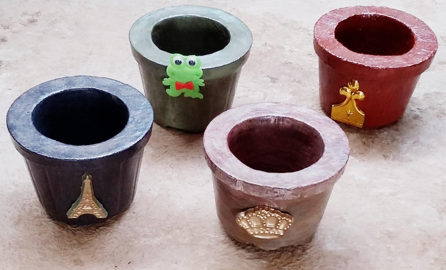 Vaso De Cimento Colorido Com Desenho No Elo7 Harumi Zzara Art