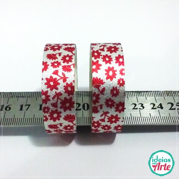 4fc5c74dfd Washi Tape Glitter Vermelho