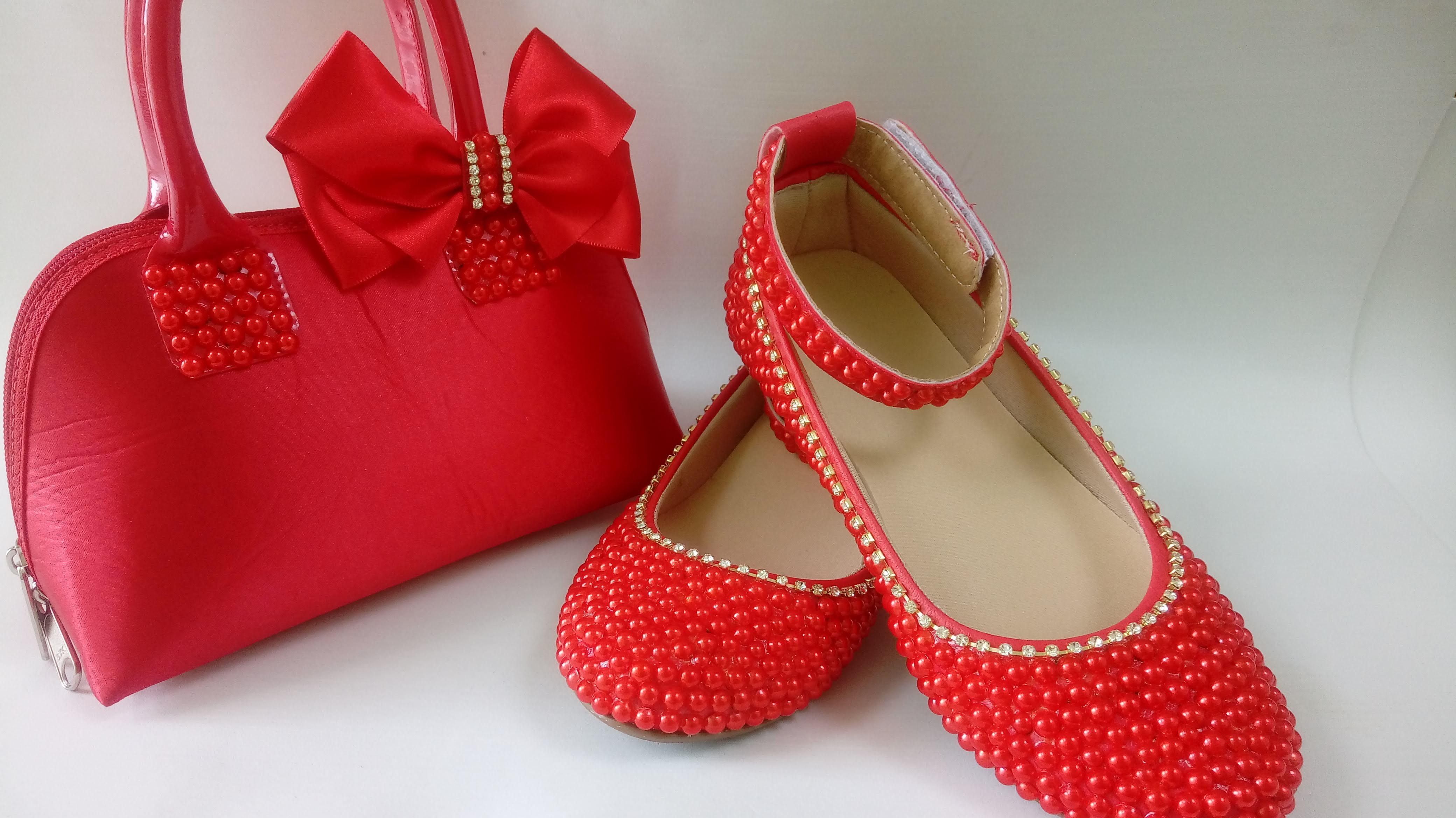 6caf0a019 Sapato Cristais Vermelho | Elo7